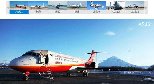 中航国际航空发展有限公司航空出口产品