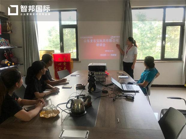 山东麦乐宝玩具有限公司智邦国际ERP实施现场